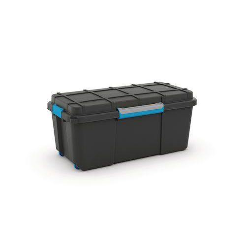 Plastový úložný box s víkem na klip Scuba, černý, 80 l - Prodloužená záruka na 10 let