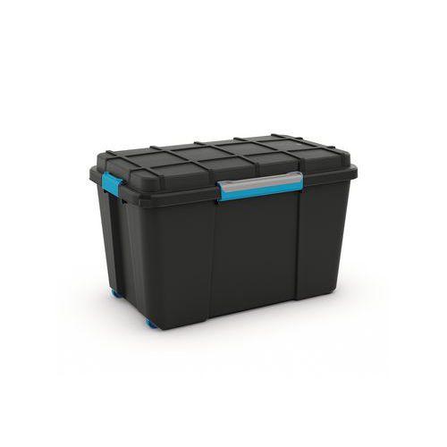 Plastový úložný box s víkem na klip Scuba, černý, 110 l - Prodloužená záruka na 10 let
