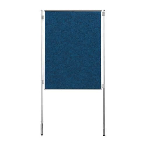 Textilní oboustranný paraván ekoTAB 100 x 150 cm, modrý