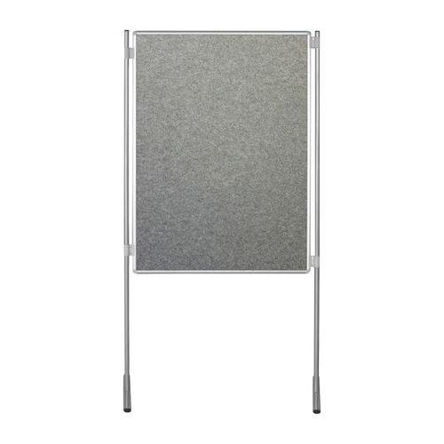 Textilní oboustranný paraván ekoTAB 120 x 150 cm, šedý