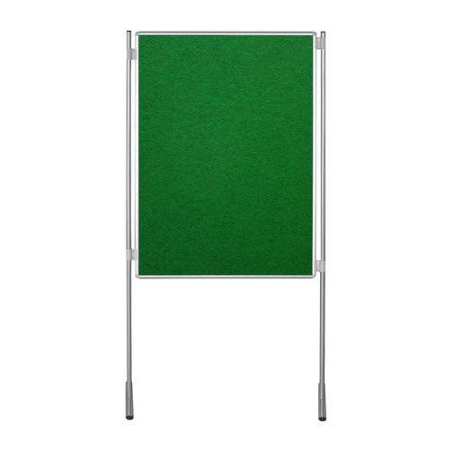 Textilní oboustranný paraván ekoTAB 120 x 150 cm, zelený
