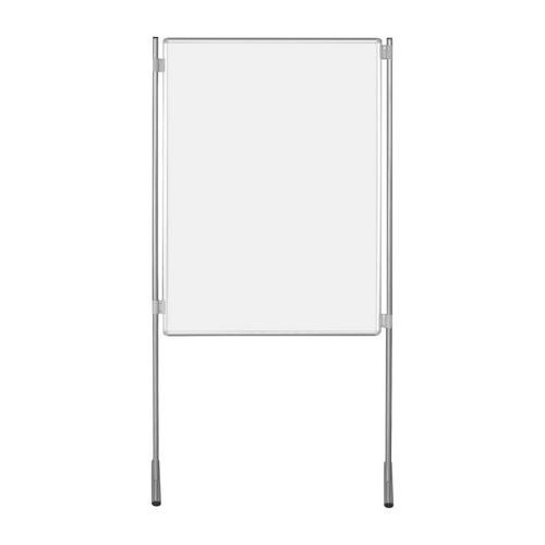 Bílý oboustranný paraván ekoTAB 100 x 150 cm, elox