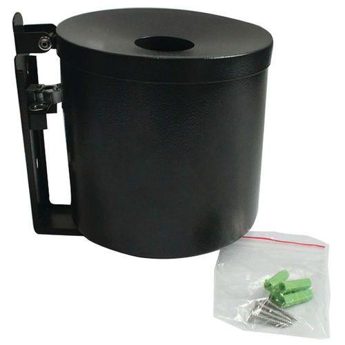 Nástěnný popelník Manutan Round, černý