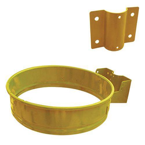 Kovový rámeček na odpadkové pytle pro objem 110 l, žlutý