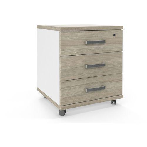 Mobilní kontejner Viva, 58 x 49 x 48 cm, dub oyster/bílý - Prodloužená záruka na 10 let