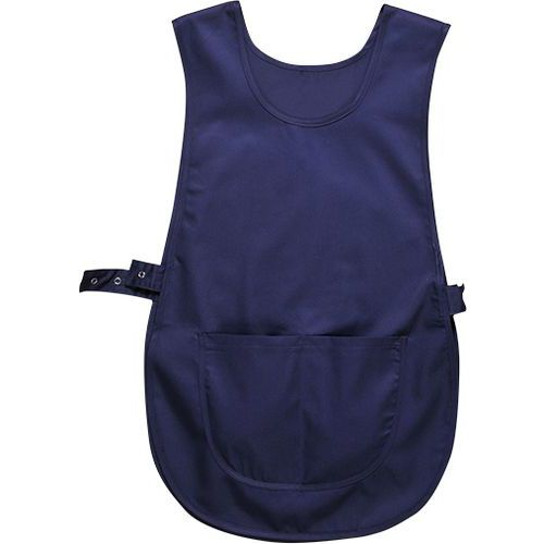 Zástěra klokanka s kapsou, modrá