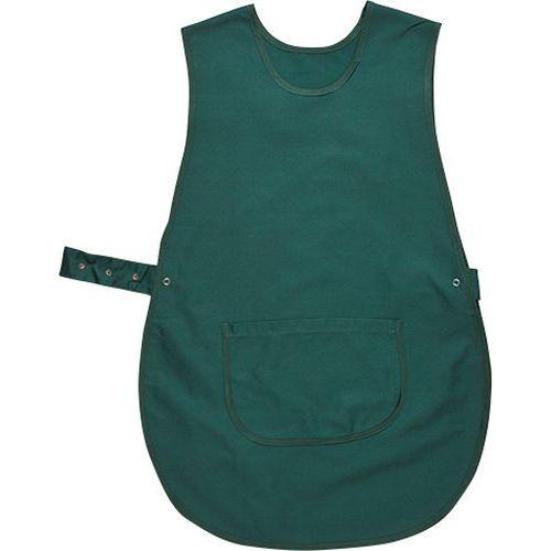 Zástěra klokanka s kapsou, zelená
