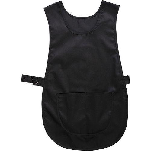 Zástěra klokanka s kapsou, černá