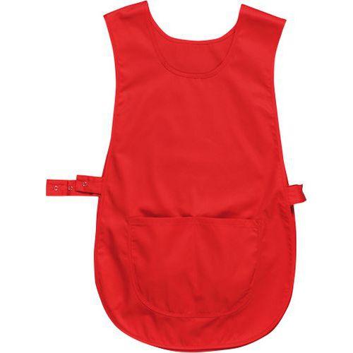 Zástěra klokanka s kapsou, červená