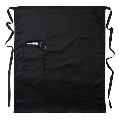 Zástěra do pasu s kapsou, černá