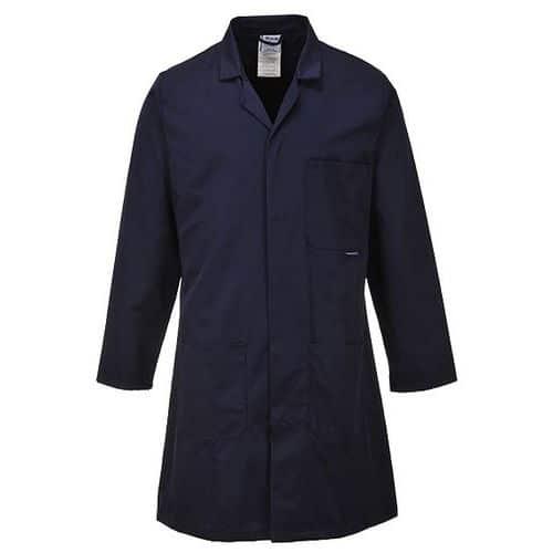 Plášť Standard směsový materiál, modrá