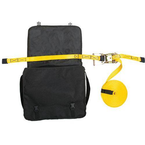 Dočasné horizontální záchranné lano, černá/žlutá