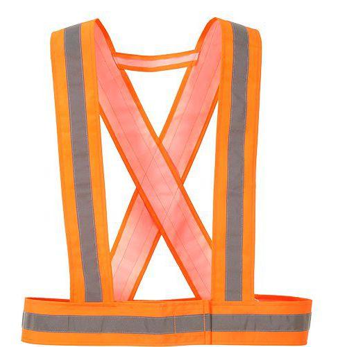 Hi-Vis křížové popruhy, oranžová