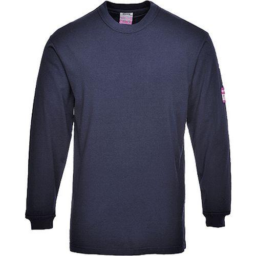 Triko s dlouhými rukávy Flame Resistant Anti-Static, modrá