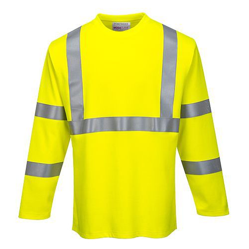FR Hi-Vis tričko s dlouhým rukávem, žlutá