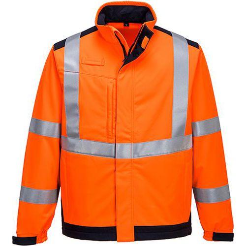 Softshelová bunda Modaflame Multi Norm Arc, modrá/oranžová, vel.