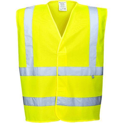 Hi-Vis vesta s nehořlavou úpravou, žlutá