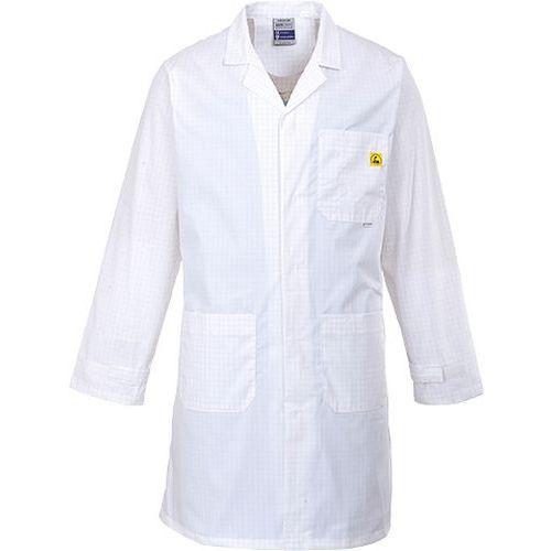 ESD antistatický plášť, bílá