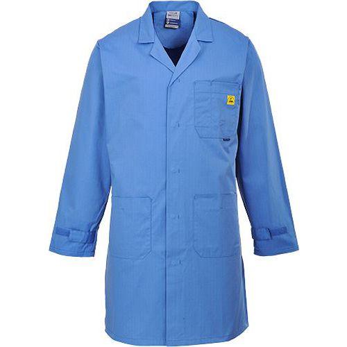 ESD antistatický plášť, modrá
