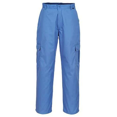 Antistatické ESD kalhoty, modrá