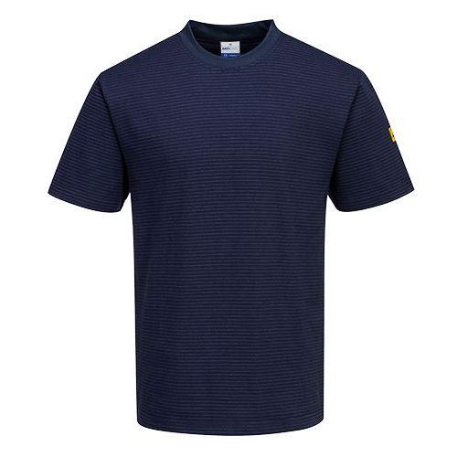 ESD antistatické triko, tmavě modrá