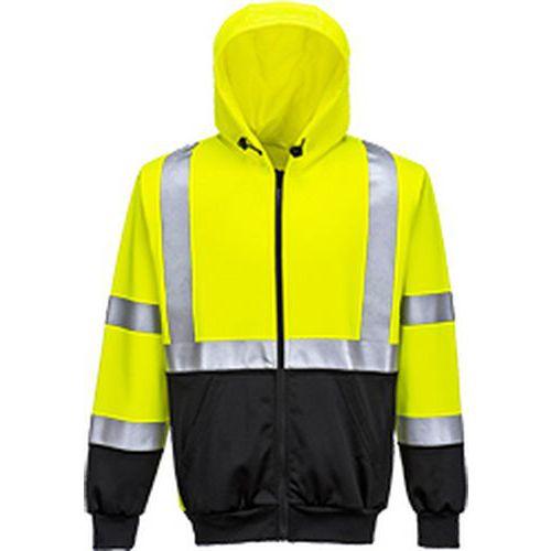 Dvoubarevná Hi-Vis mikina s kapucí, černá/žlutá, vel. 5XL