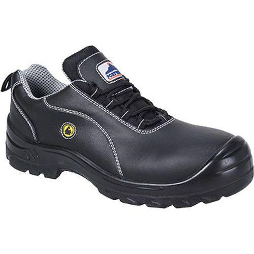 Portwest Compositelite ESD kožená obuv S1, černá