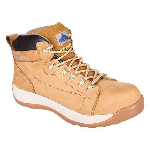 Steelite Mid Cut Nubuck kotníková obuv SB HRO, světle žlutá
