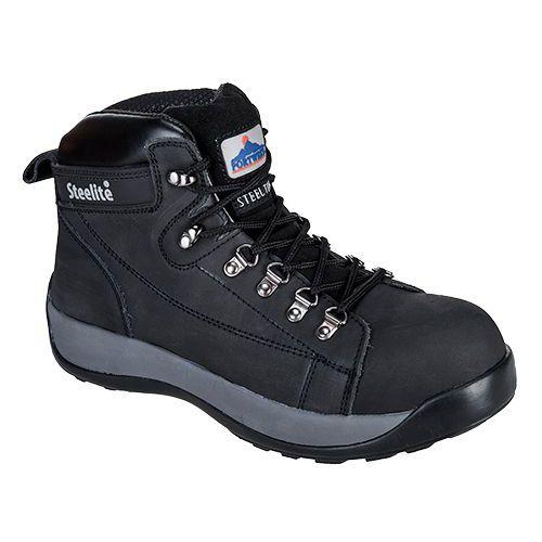 Steelite Mid Cut Nubuck kotníková obuv SB HRO, černá