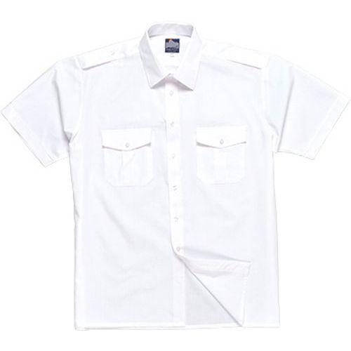 Polokošile s krátkými rukávy, bílá, vel. 140
