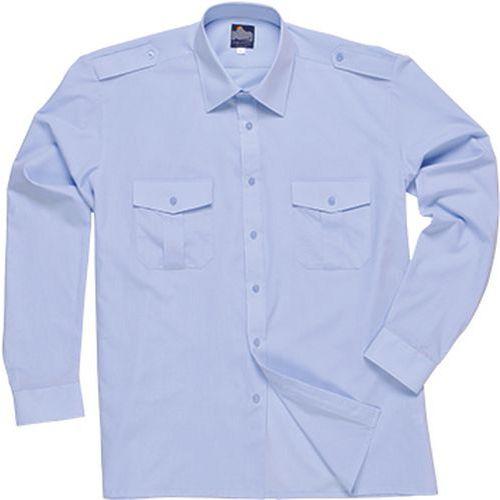 Pilotní košile s dlouhými rukávy, modrá