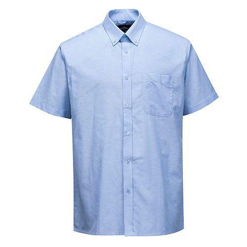 Košile Oxford Easycare s krátkými rukávy snadná údržba, modrá