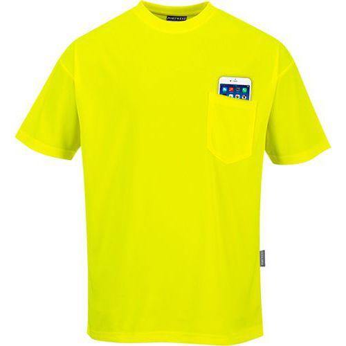 Triko Day-Vis s krátkými rukávy, žlutá, vel. L
