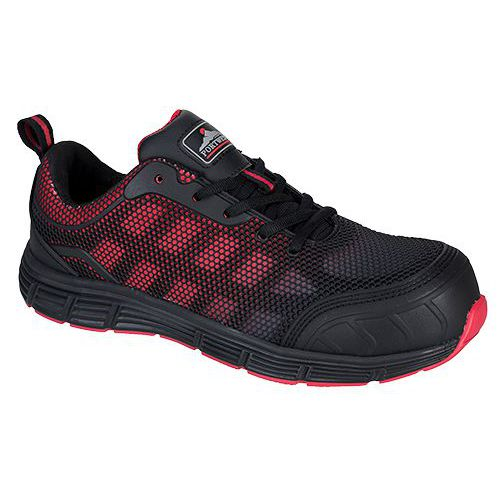 Obuv Portwest Compositelite Ogwen Low Cut Trainer S1P, červená/č