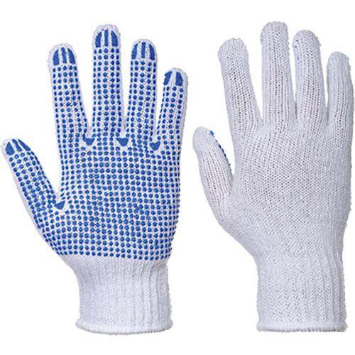 Klasické Rukavice Polka Dot, bílá/modrá, vel. XS