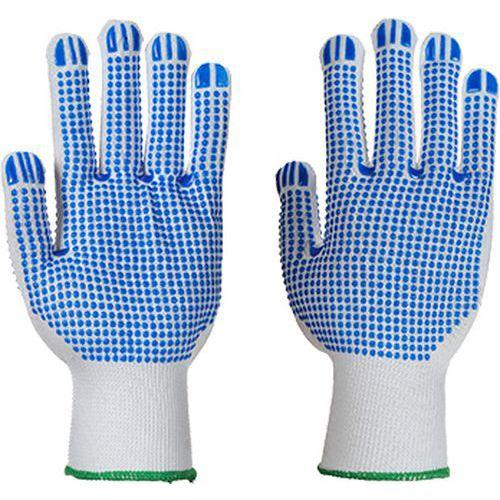 Rukavice Polka Dot Plus, bílá/modrá, vel. L