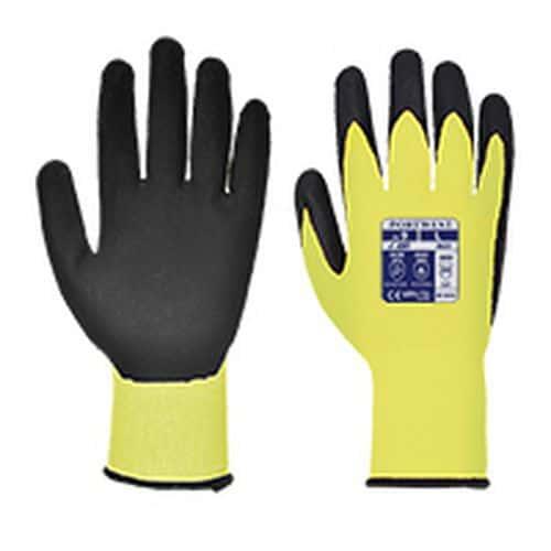 Rukavice Vis-Tex PU neprořezné, černá/žlutá, vel. XL