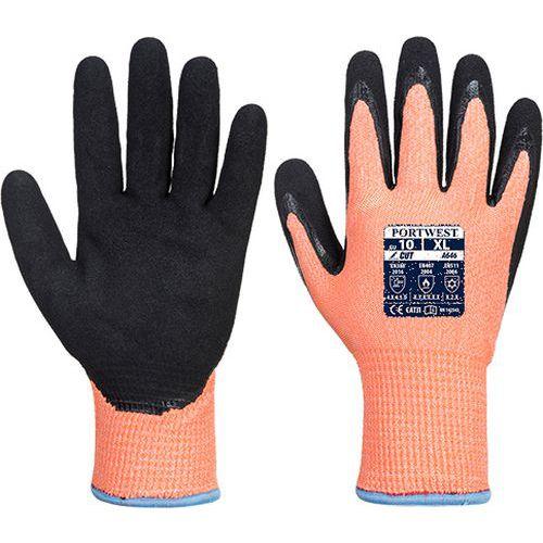 Zimní rukavice Vis-Tex HR Cut Nitril, černá/oranžová, vel. L