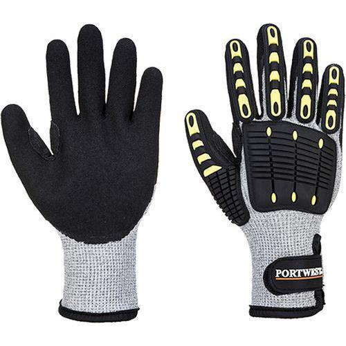 Zateplená rukavice Anti Impact Cut Resistant, šedá/černá, vel. S