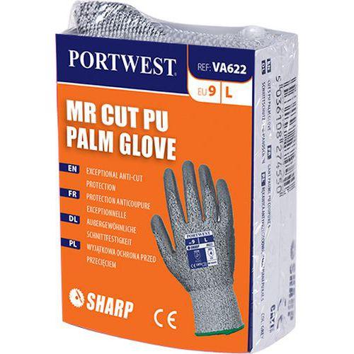 Rukavice MR Cut PU pro výdejní automat, šedá, vel. L