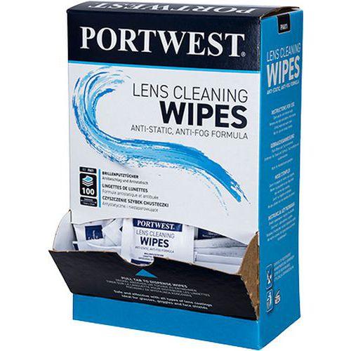 Portwest čišticí ubrousky na brýle, bílé, 100 ks