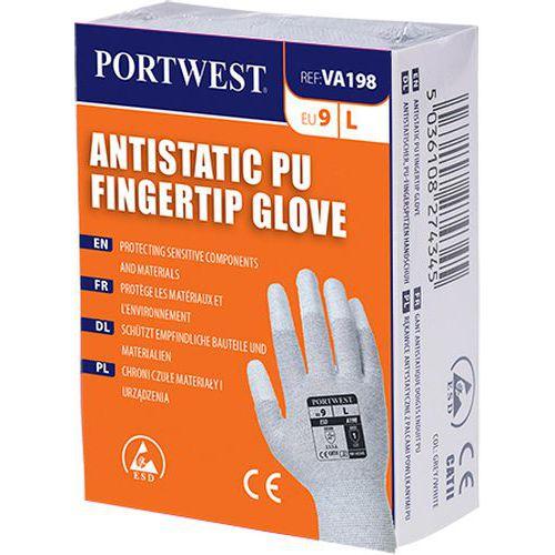 Antistatické rukavice PU Fingertip pro výdejní automat, šedá, ve