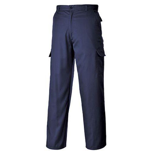 Kalhoty Combat s kolenními kapsami, modrá