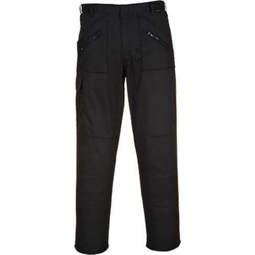 Kalhoty Action, černá, prodloužené, vel. 38