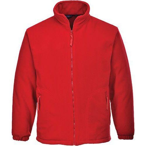 Fleece Aran, červená
