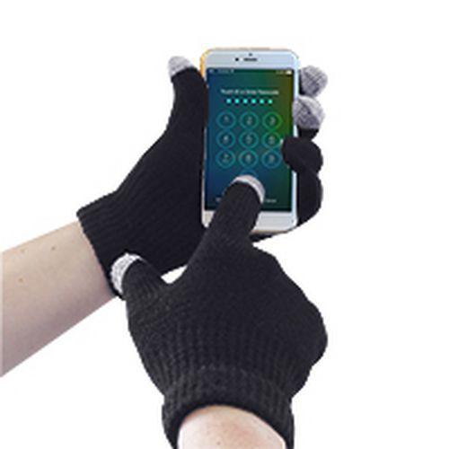 Portwest Pletené rukavice Touchscreen, černá, vel. L-XL