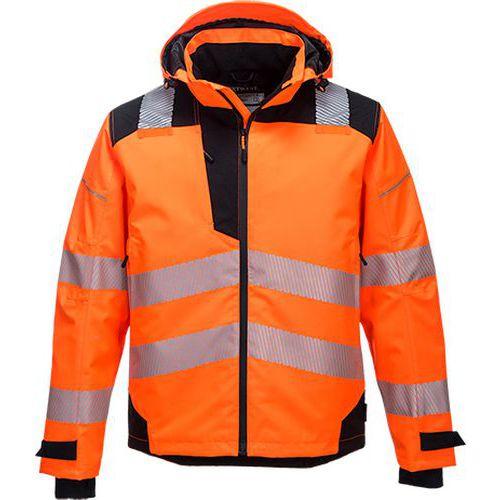 Prodyšná bunda PW3 Extreme Rain, černá/oranžová