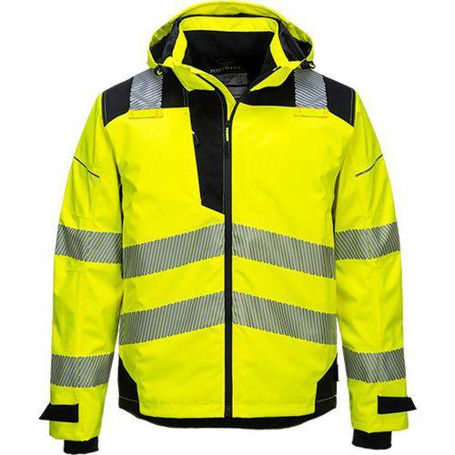 Prodyšná bunda PW3 Extreme Rain, černá/žlutá