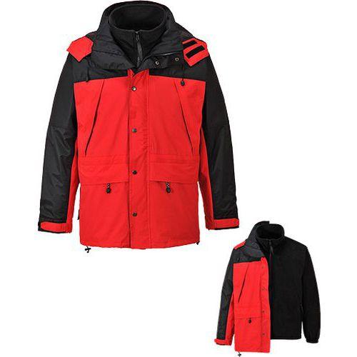 Prodyšná bunda Orkney 3v1, červená