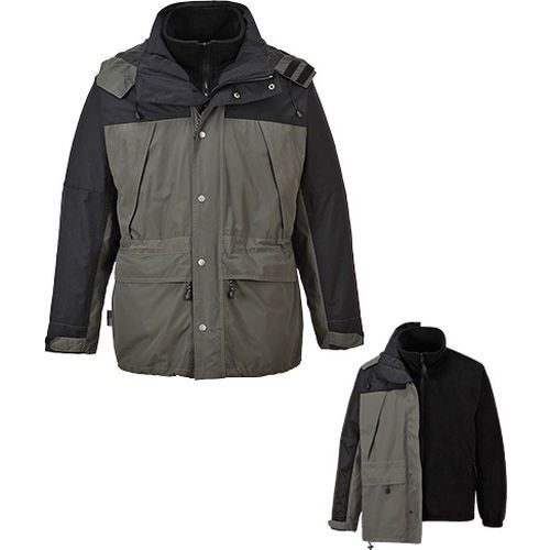 Prodyšná bunda Orkney 3v1, šedá